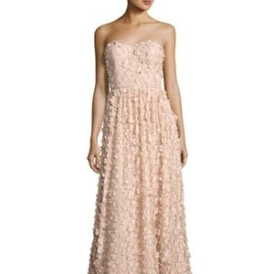 NWT Strapless Floral Gown Blush